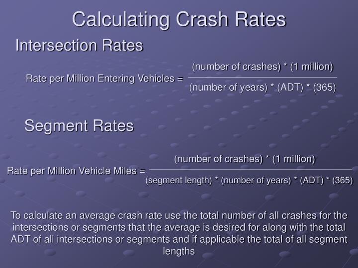 Calculating Crash Rates