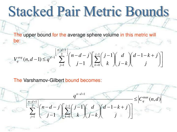 Stacked Pair Metric Bounds
