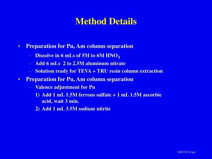 Method Details