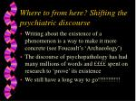 where to from here shifting the psychiatric discourse