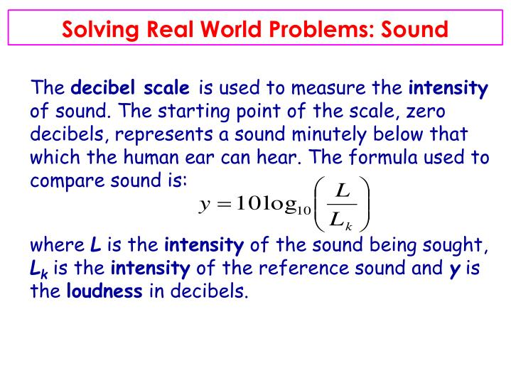 Solving Real World Problems: Sound