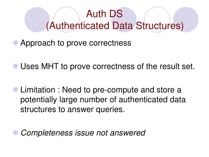Auth DS