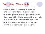computing ipr of a tuple