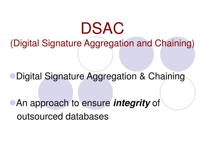 dsac digital signature aggregation and chaining