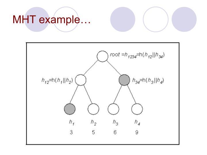 MHT example…