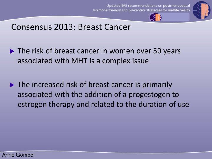 Consensus 2013: Breast Cancer