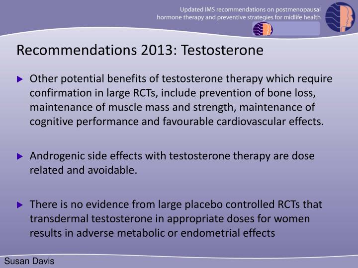 Recommendations 2013: Testosterone