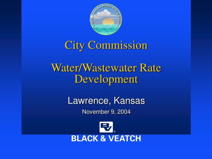 city commission water wastewater rate development