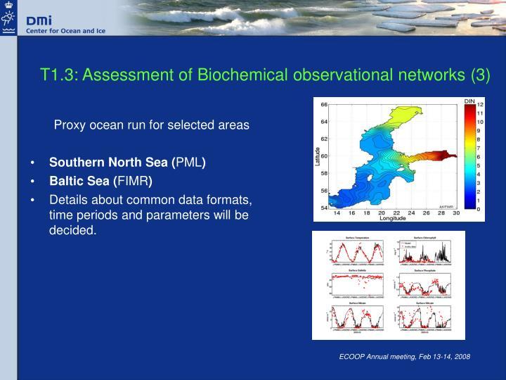 T1.3: Assessment of Biochemical observational networks (3)