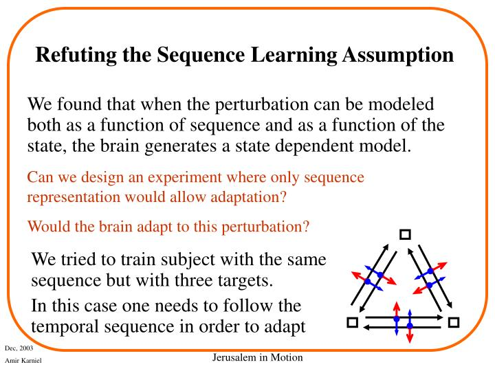 Refuting the Sequence Learning Assumption