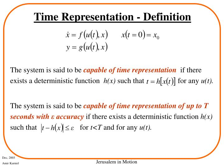 Time Representation - Definition