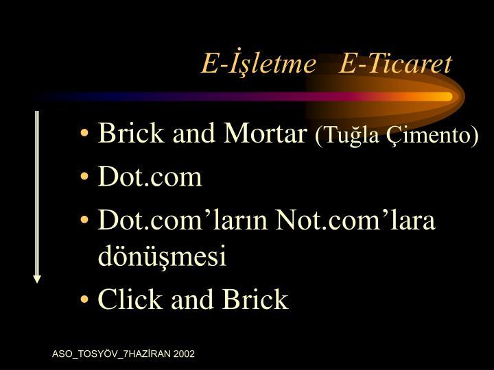 E-İşletme   E-Ticaret