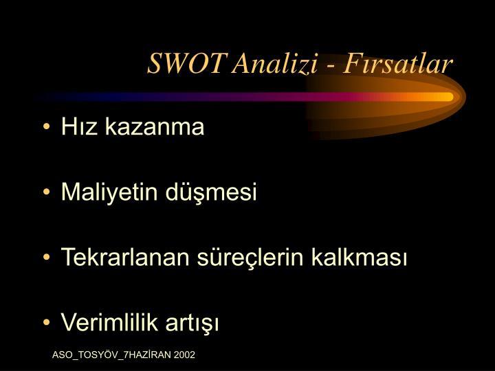 SWOT Analizi - Fırsatlar