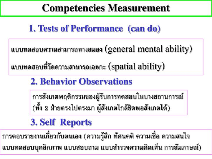 Competencies Measurement
