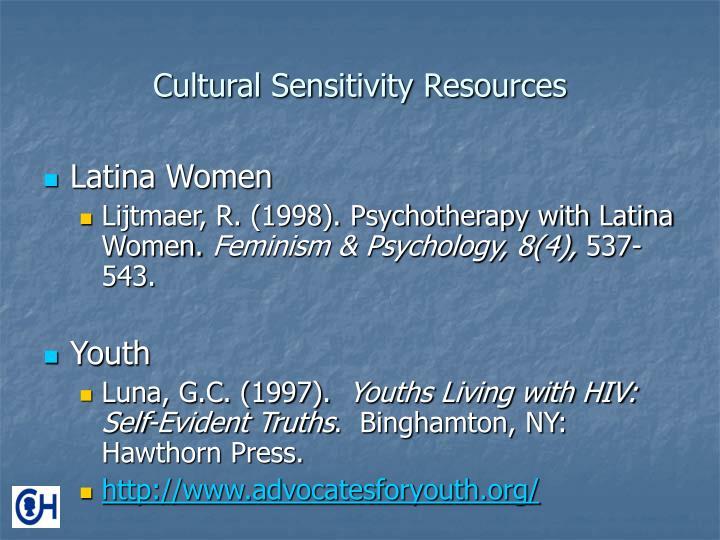 Cultural Sensitivity Resources
