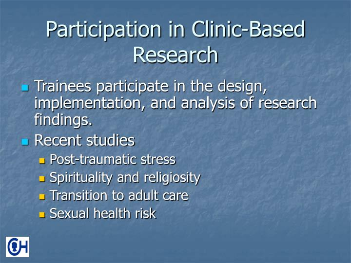 Participation in Clinic-Based Research