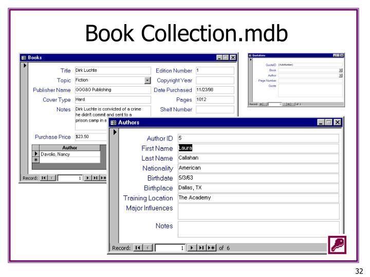Book Collection.mdb