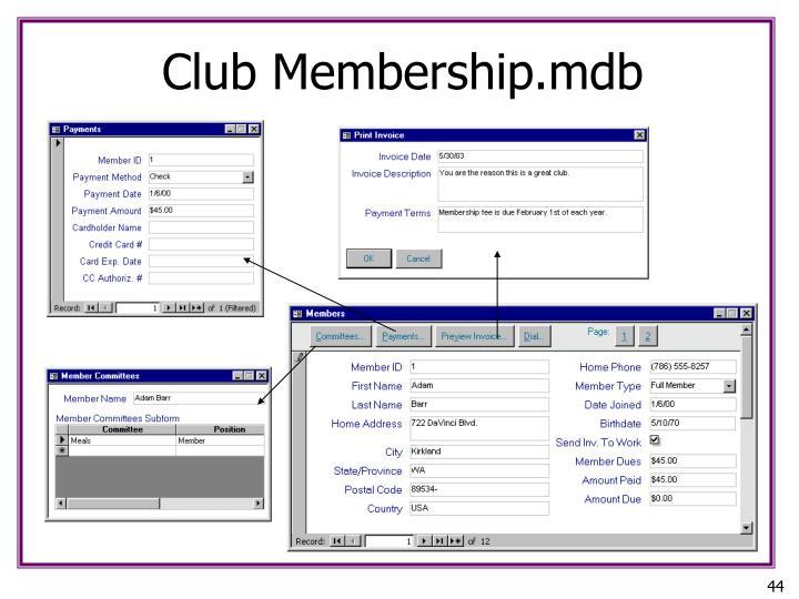 Club Membership.mdb