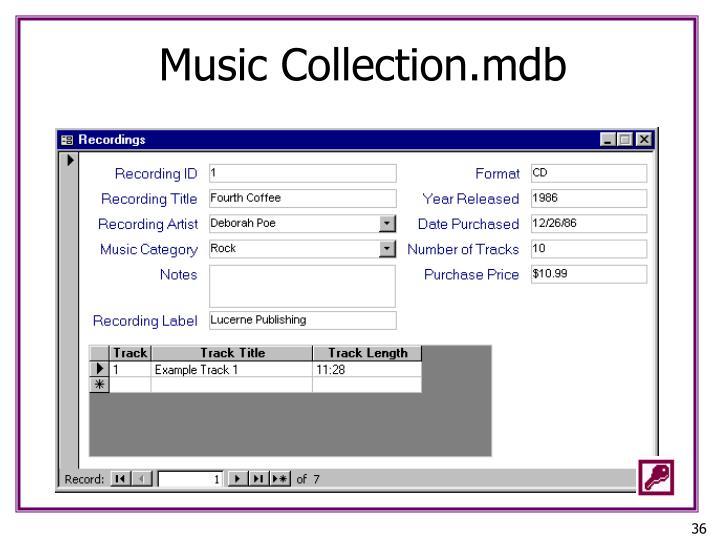 Music Collection.mdb