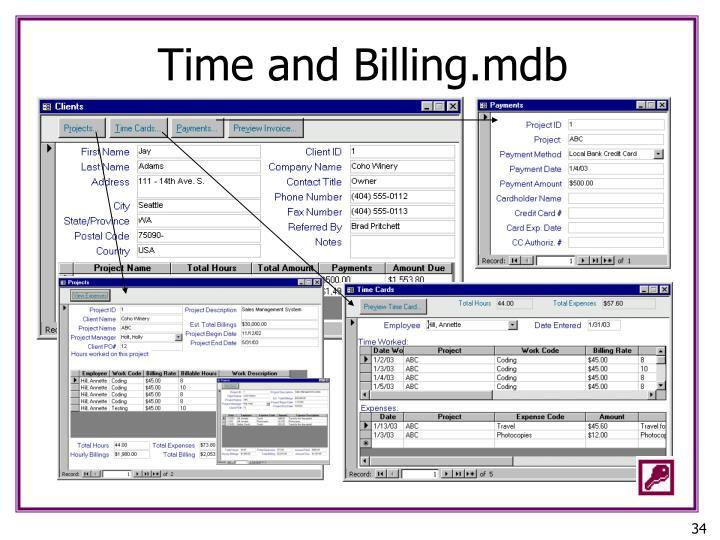 Time and Billing.mdb