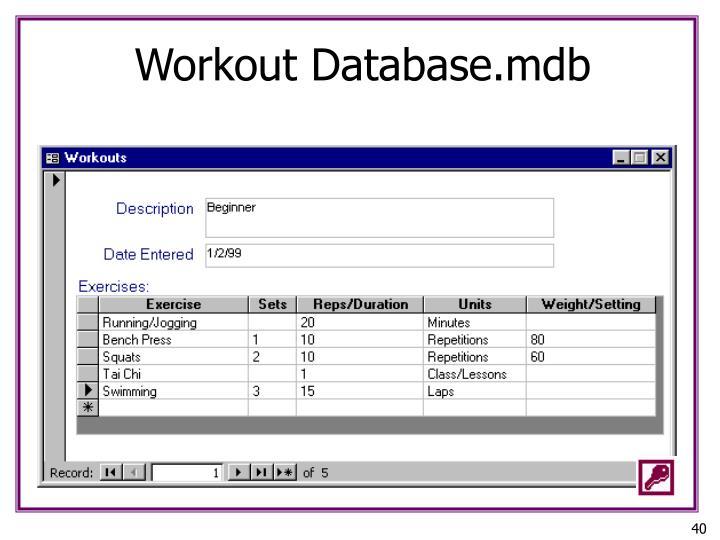 Workout Database.mdb