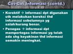 ciri ciri informasi contd