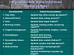 karakteristik data informasi menurut alter