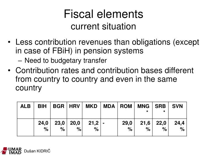 Fiscal elements