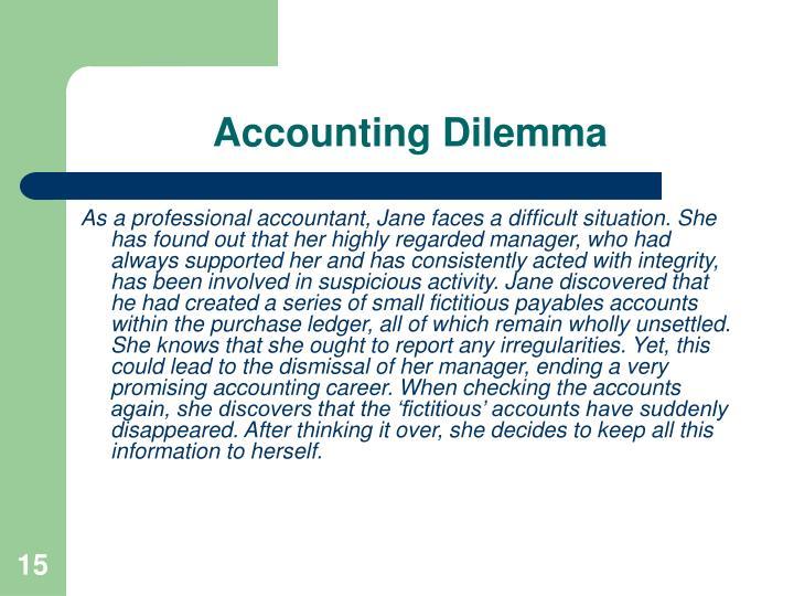 Accounting Dilemma