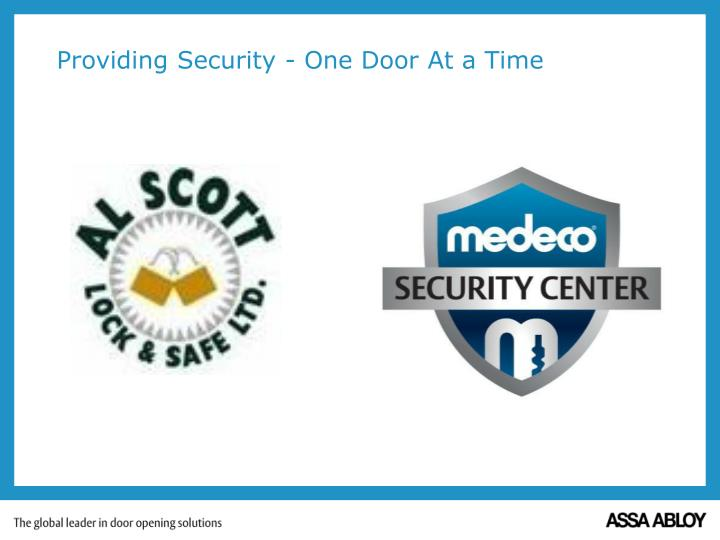 providing security one door at a time