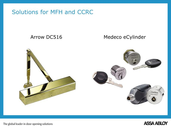 Solutions for MFH and CCRC