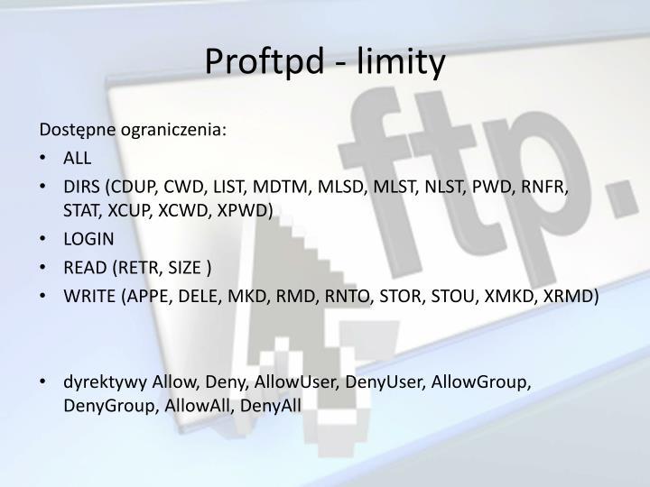 Proftpd - limity