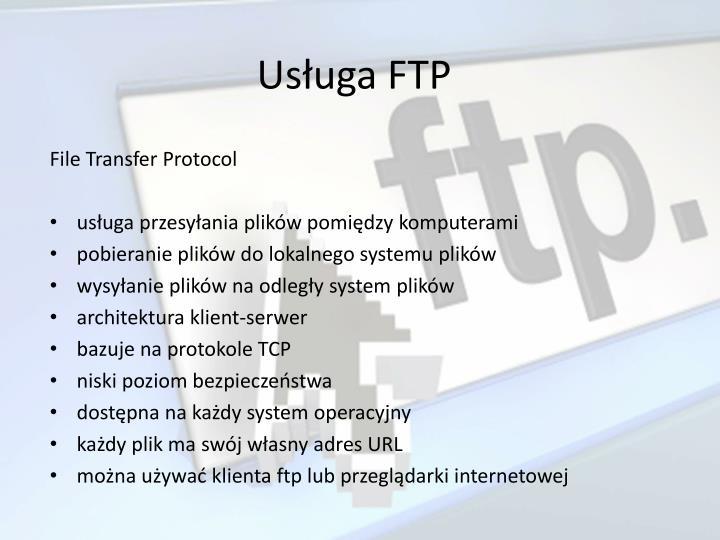 Usługa FTP
