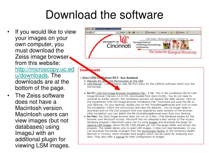Download the software