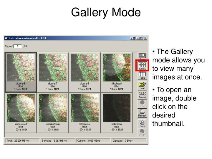 Gallery Mode