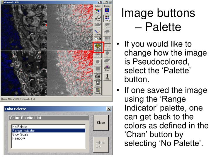 Image buttons – Palette