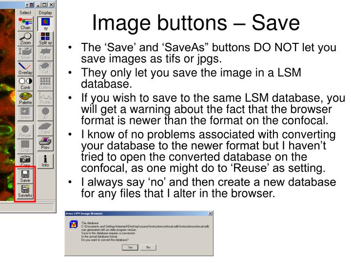 Image buttons – Save