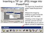 inserting a tif or jpg image into powerpoint