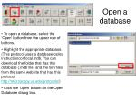 open a database
