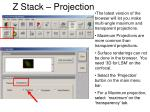 z stack projection