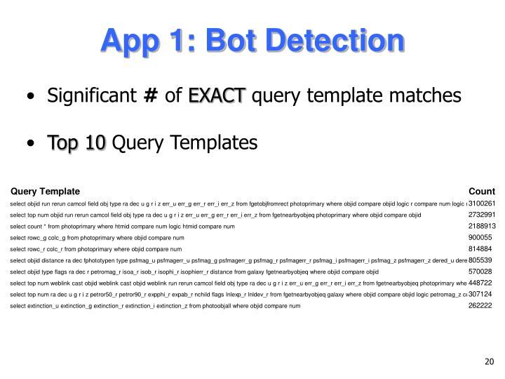 App 1: Bot Detection