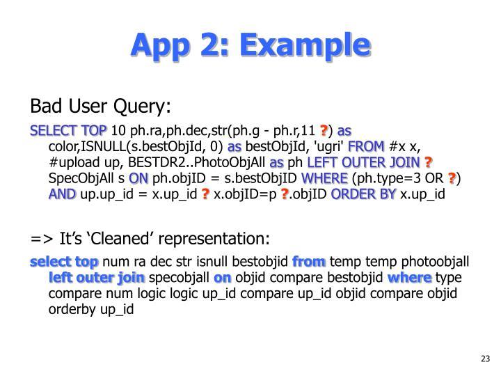 App 2: Example