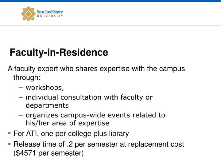 Faculty-in-Residence