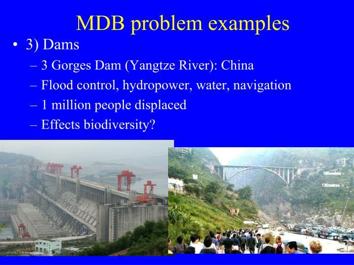 MDB problem examples