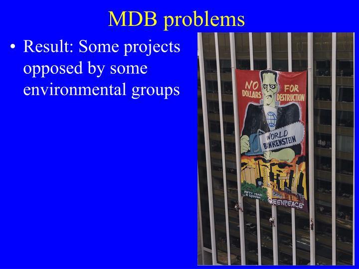 MDB problems