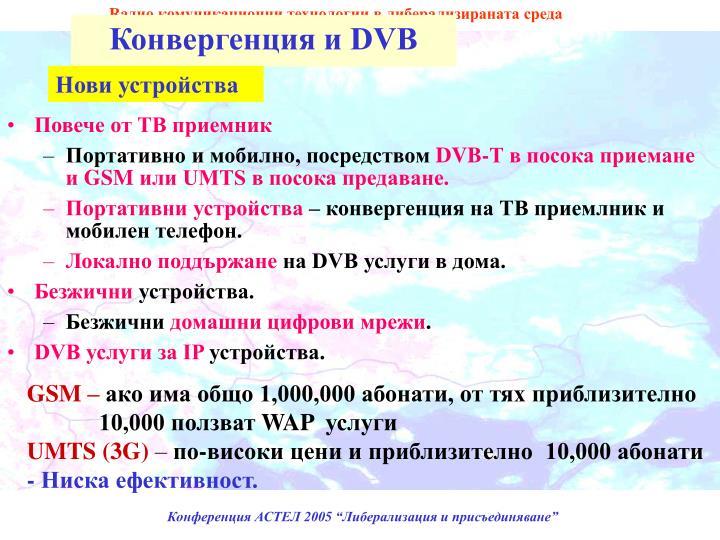 Конвергенция и DVB