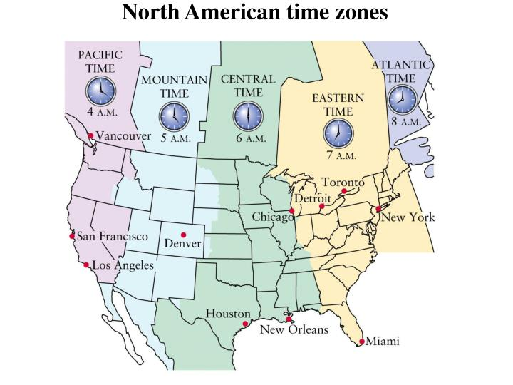 North American time zones