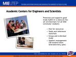 academic centers for engineers and scientists