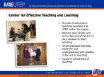 center for effective teaching and learning