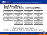 circles course clusters designed to address diverse academic capabilities
